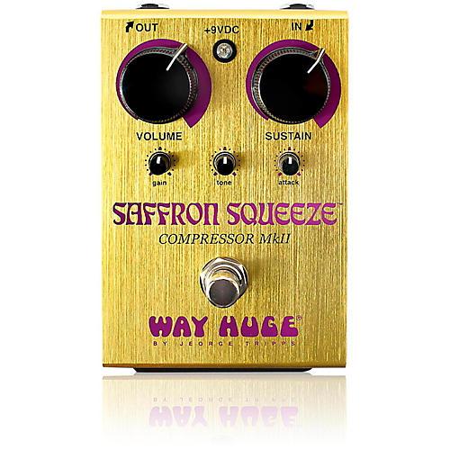 Way Huge Electronics Saffron Squeeze Compressor Guitar Effects Pedal thumbnail