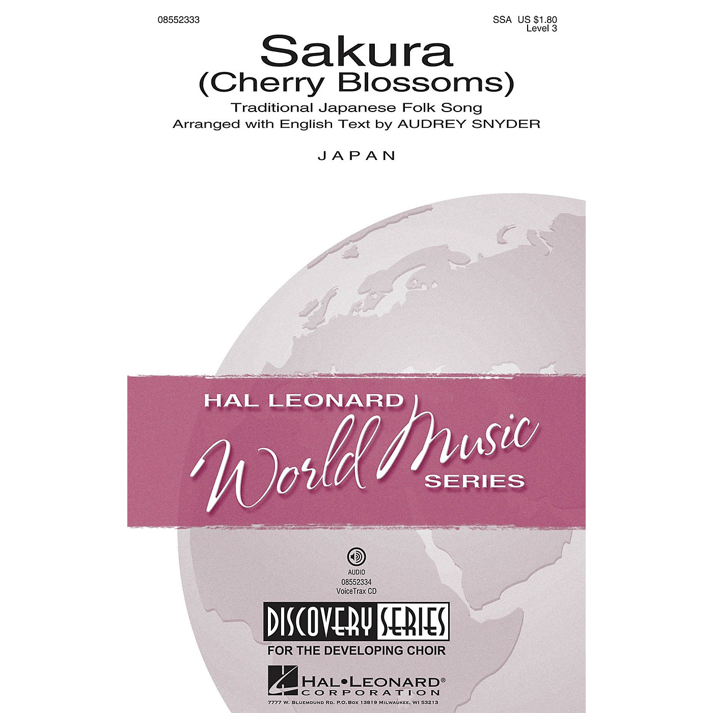Hal Leonard Sakura (Cherry Blossoms) Discovery Level 3 SSA arranged by Audrey Snyder thumbnail