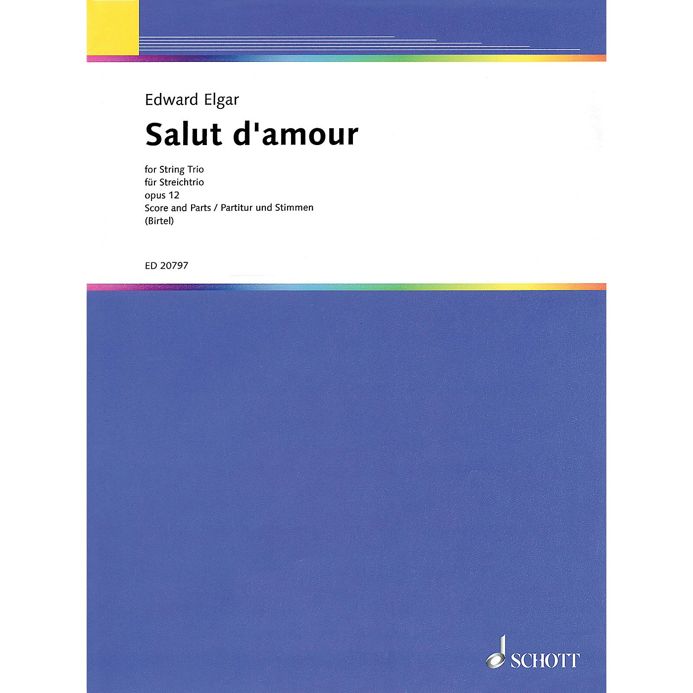 Schott Salut d'Amour String Series Softcover Composed by Edward Elgar Arranged by Wolfgang Birtel thumbnail