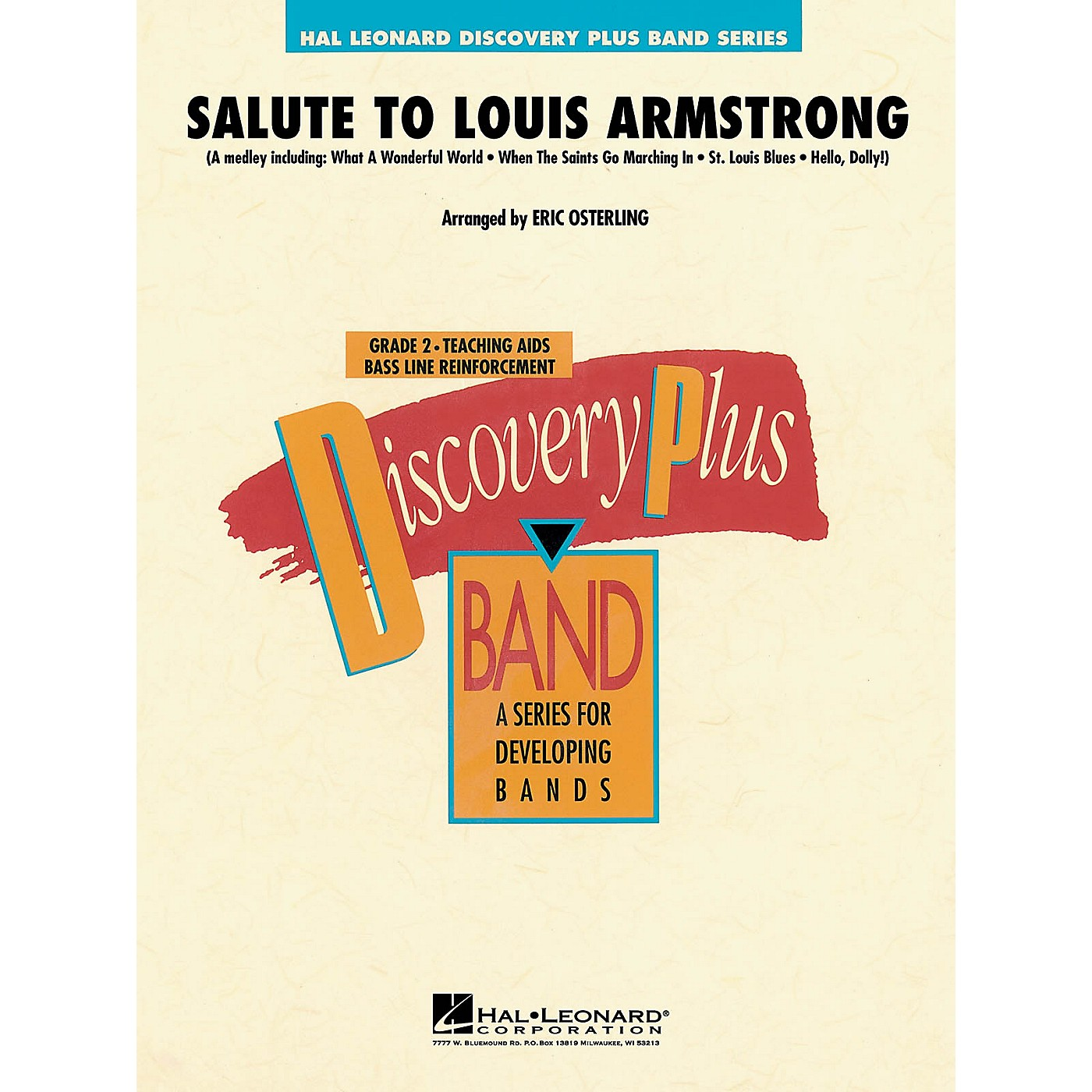 Hal Leonard Salute to Louis Armstrong - Discovery Plus Concert Band Series Level 2 arranged by Eric Osterling thumbnail