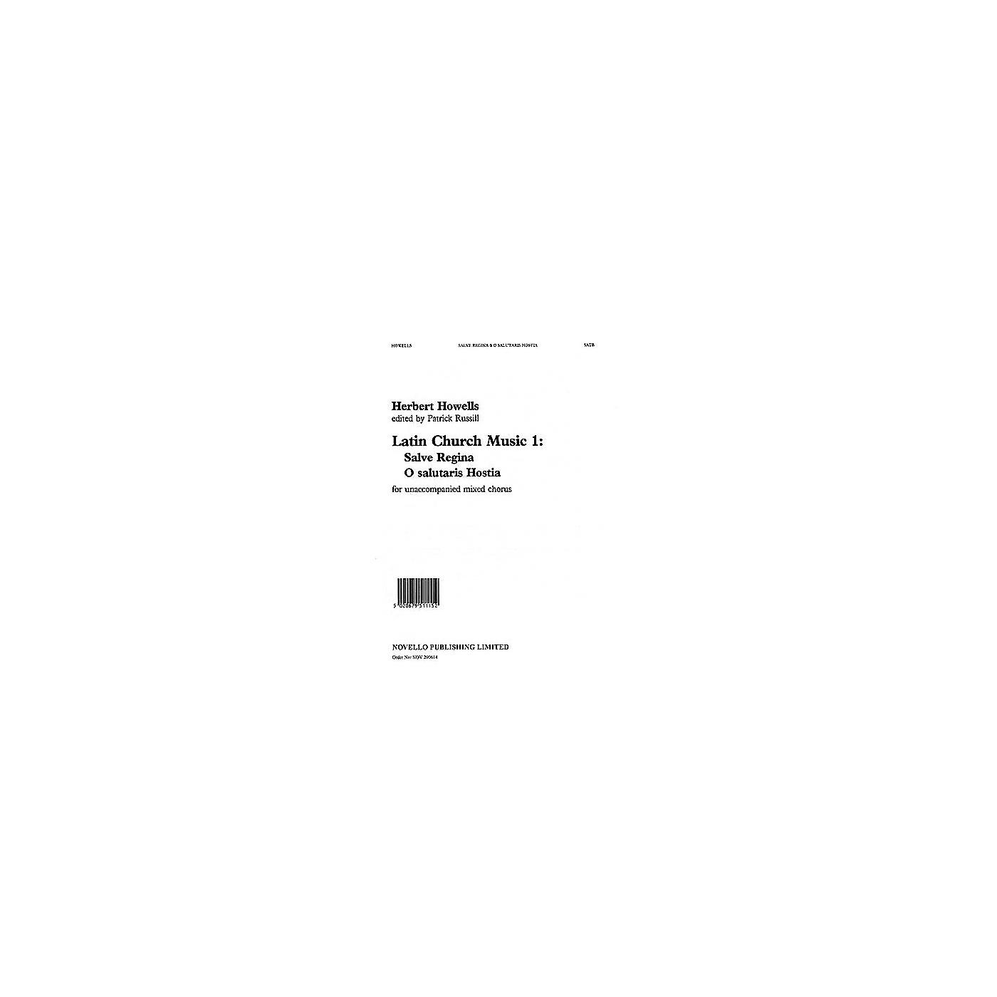Novello Salve Regina/O Salutaris Hostia SATB Composed by Herbert Howells thumbnail