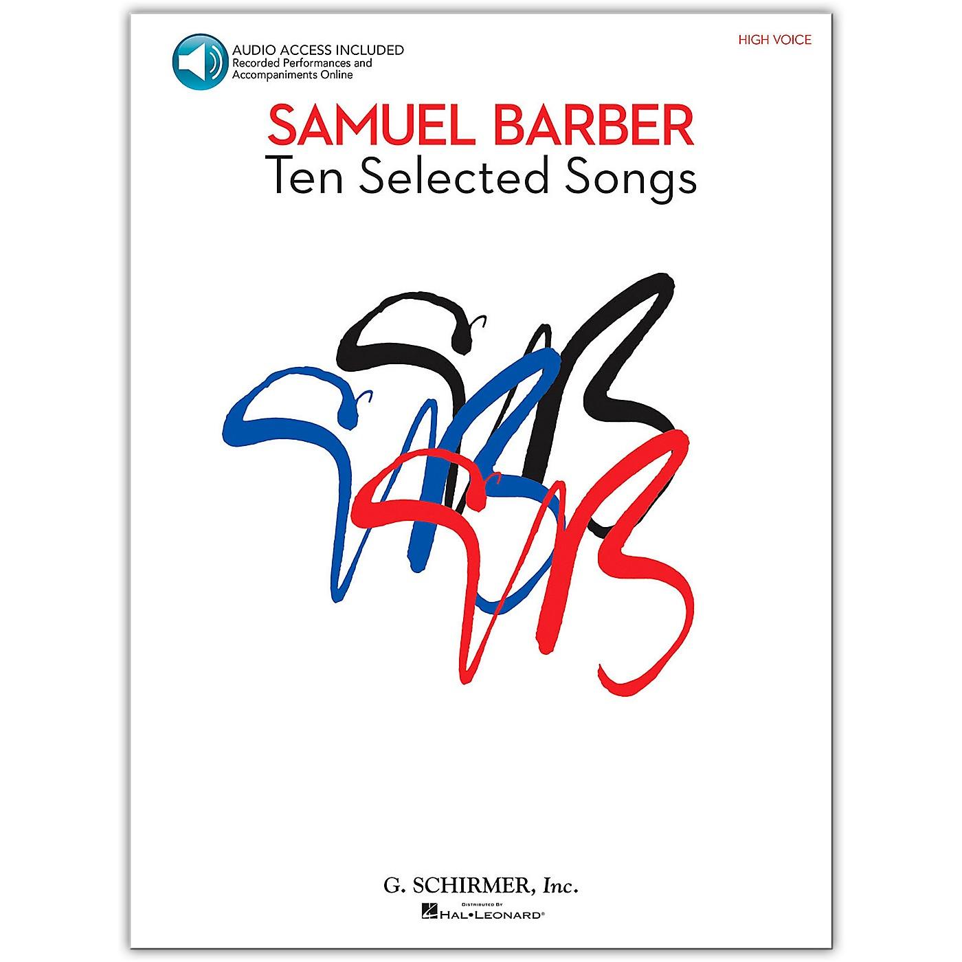 G. Schirmer Samual Barber - Ten Selected Songs High Voice Book/Online Audio thumbnail