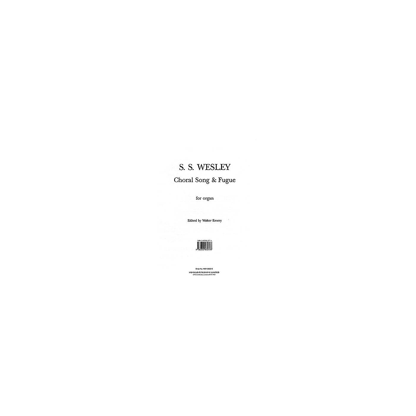 Music Sales Samuel Sebastian Wesley: Choral Song And Fugue Music Sales America Series thumbnail