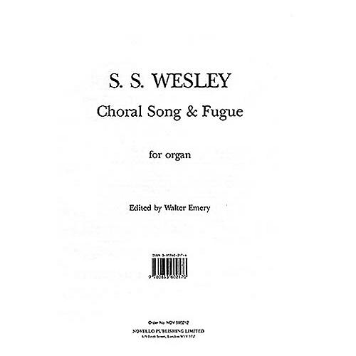 Music Sales Samuel Sebastian Wesley: Choral Song And Fugue Music Sales America Series thumbnail