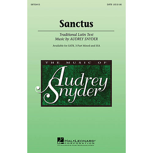Hal Leonard Sanctus SSA Composed by Audrey Snyder thumbnail