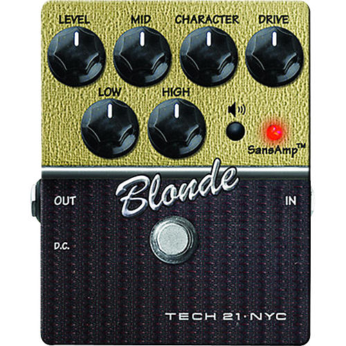 Tech 21 SansAmp Character Series Blonde V2 Distortion Guitar Effects Pedal thumbnail