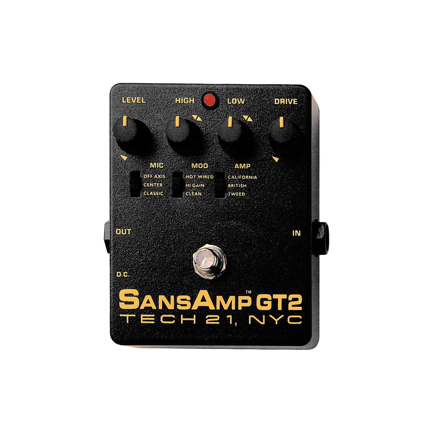 Tech 21 SansAmp GT2 Tube Amp Emulator thumbnail