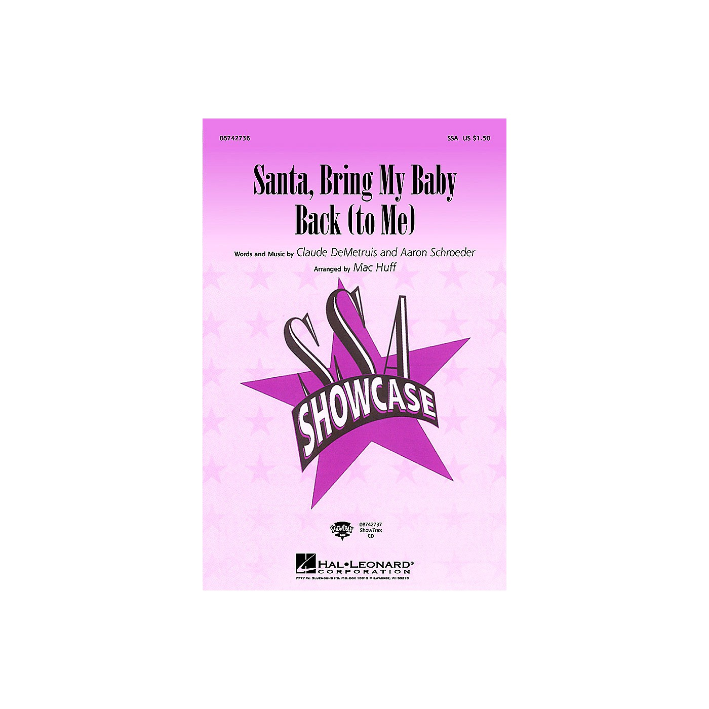 Hal Leonard Santa, Bring My Baby Back (To Me) ShowTrax CD by Elvis Presley Arranged by Mac Huff thumbnail