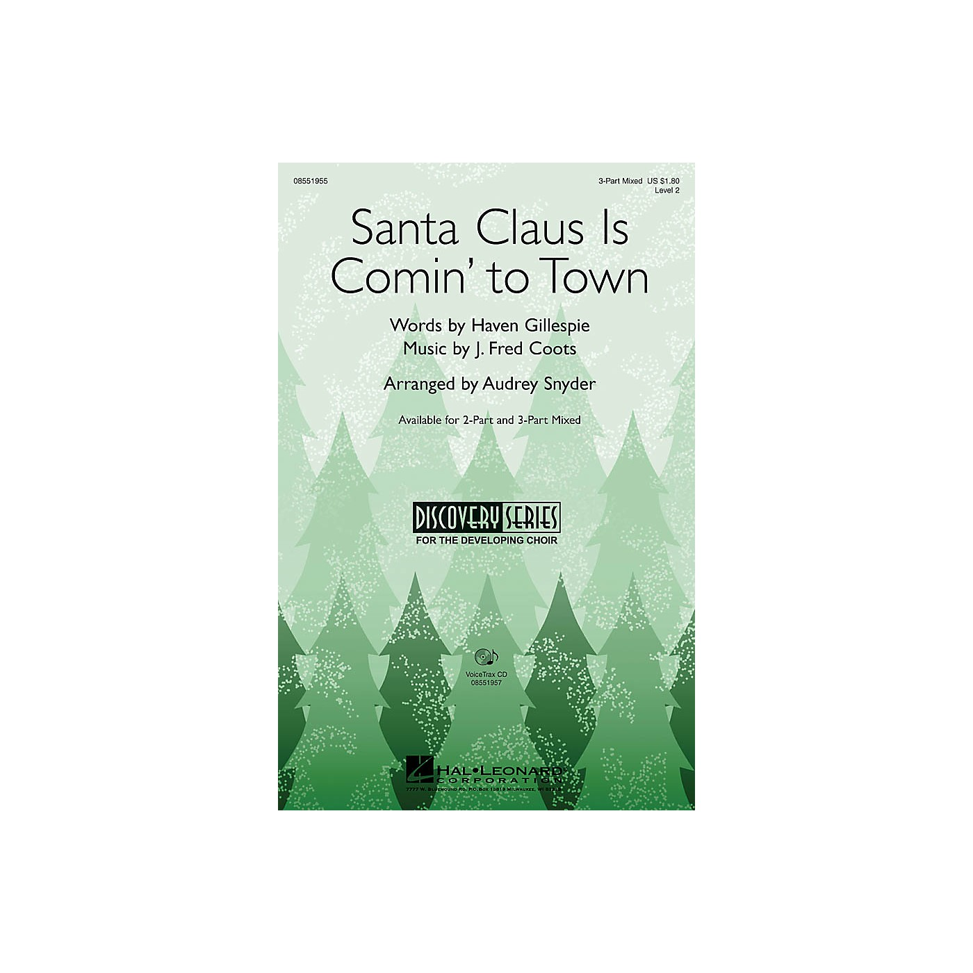 Hal Leonard Santa Claus Is Comin' to Town 3-Part Mixed arranged by Audrey Snyder thumbnail