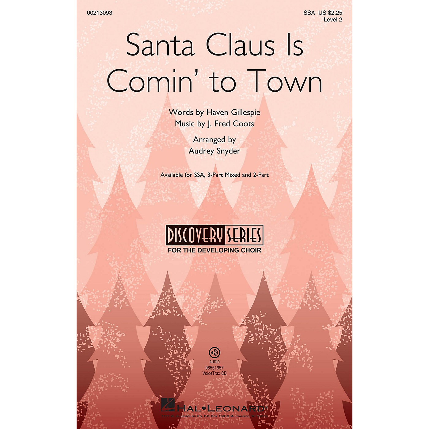 Hal Leonard Santa Claus Is Comin' to Town (Discovery Level 2) SSA arranged by Audrey Snyder thumbnail