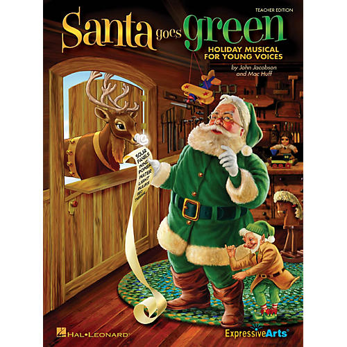 Hal Leonard Santa Goes Green (Holiday Musical for Young Voices) Singer 5 Pak Composed by John Jacobson thumbnail