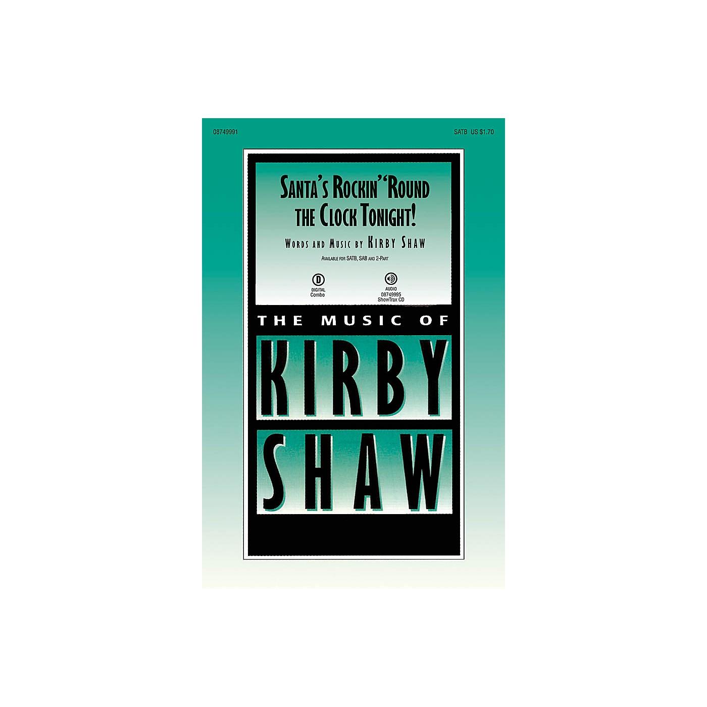 Hal Leonard Santa's Rockin' 'Round the Clock Tonight! 2-Part Composed by Kirby Shaw thumbnail
