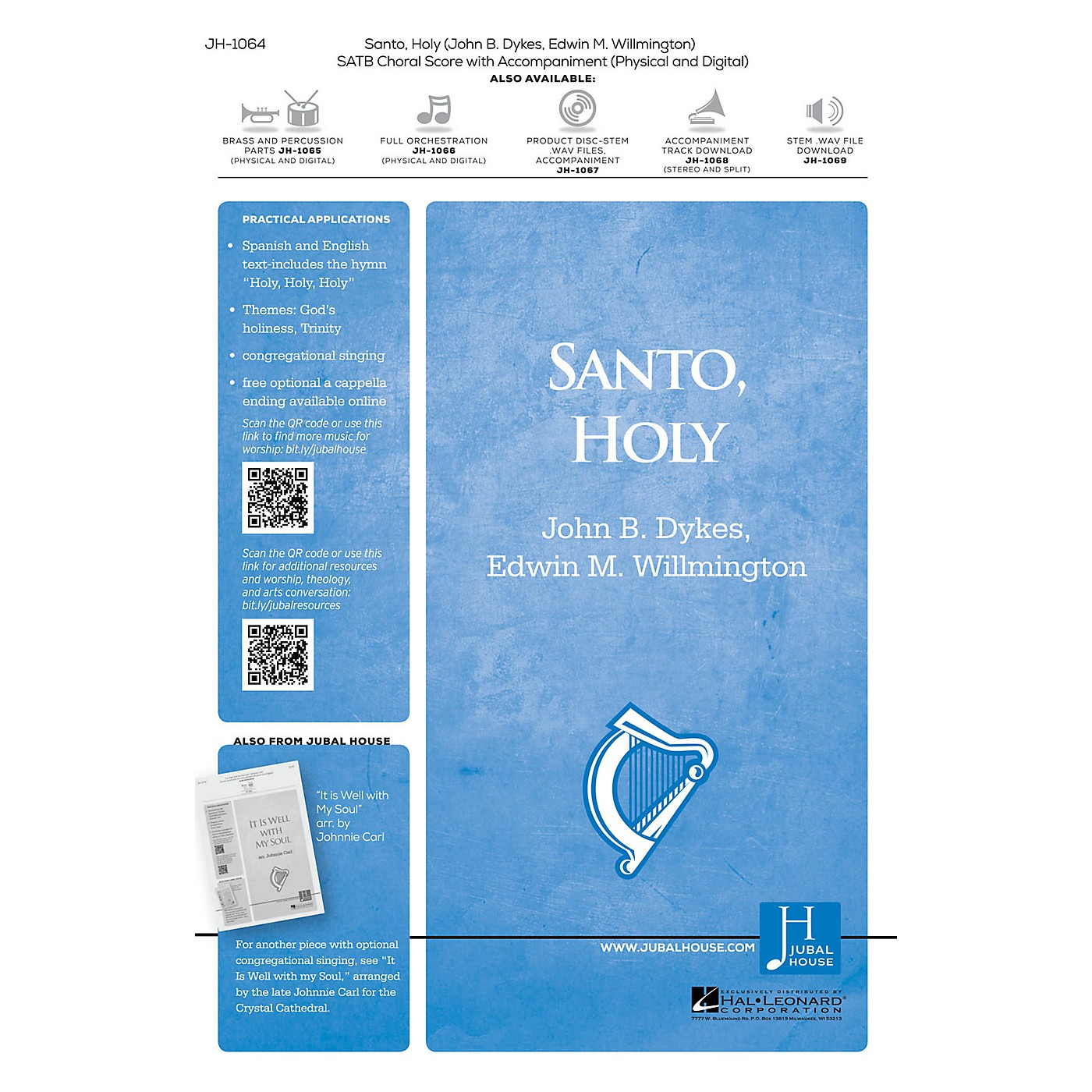Jubal House Publications Santo, Holy BRASS/PERCUSSION PARTS Composed by Edwin M. Willmington thumbnail