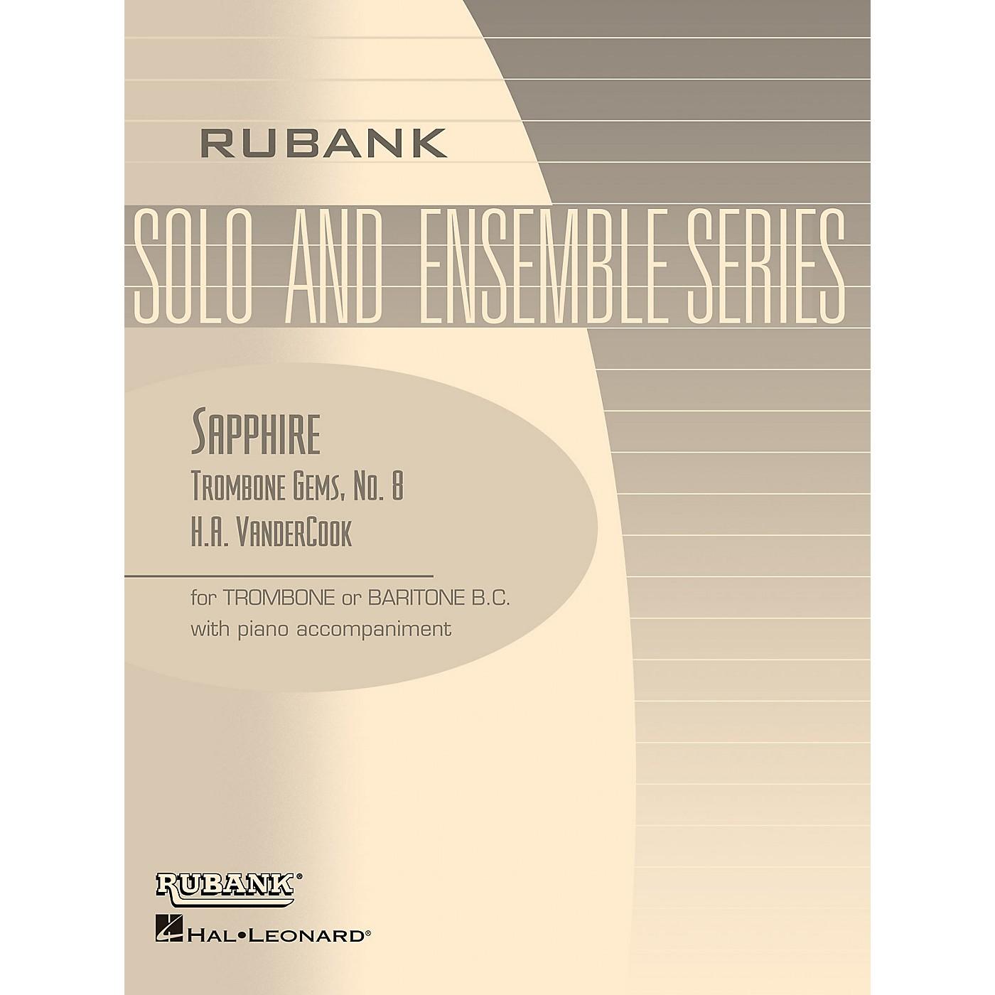 Rubank Publications Sapphire (Trombone (Baritone B.C.) Solo with Piano - Grade 3) Rubank Solo/Ensemble Sheet Series thumbnail