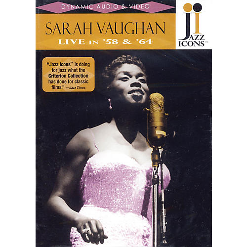 Jazz Icons Sarah Vaughan - Live in '58 and '64 Live/DVD Series DVD Performed by Sarah Vaughan thumbnail