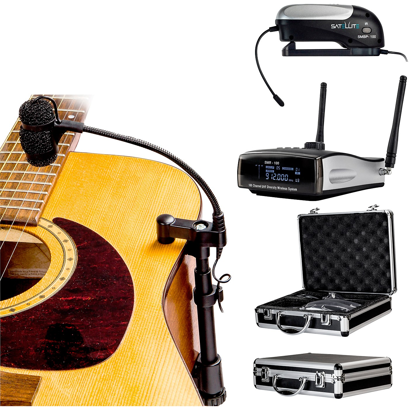 Nady Satellite AGM-100 - 100-Channel True Diversity Wireless Instrument System for Acoustic or Nylon String Guitar thumbnail