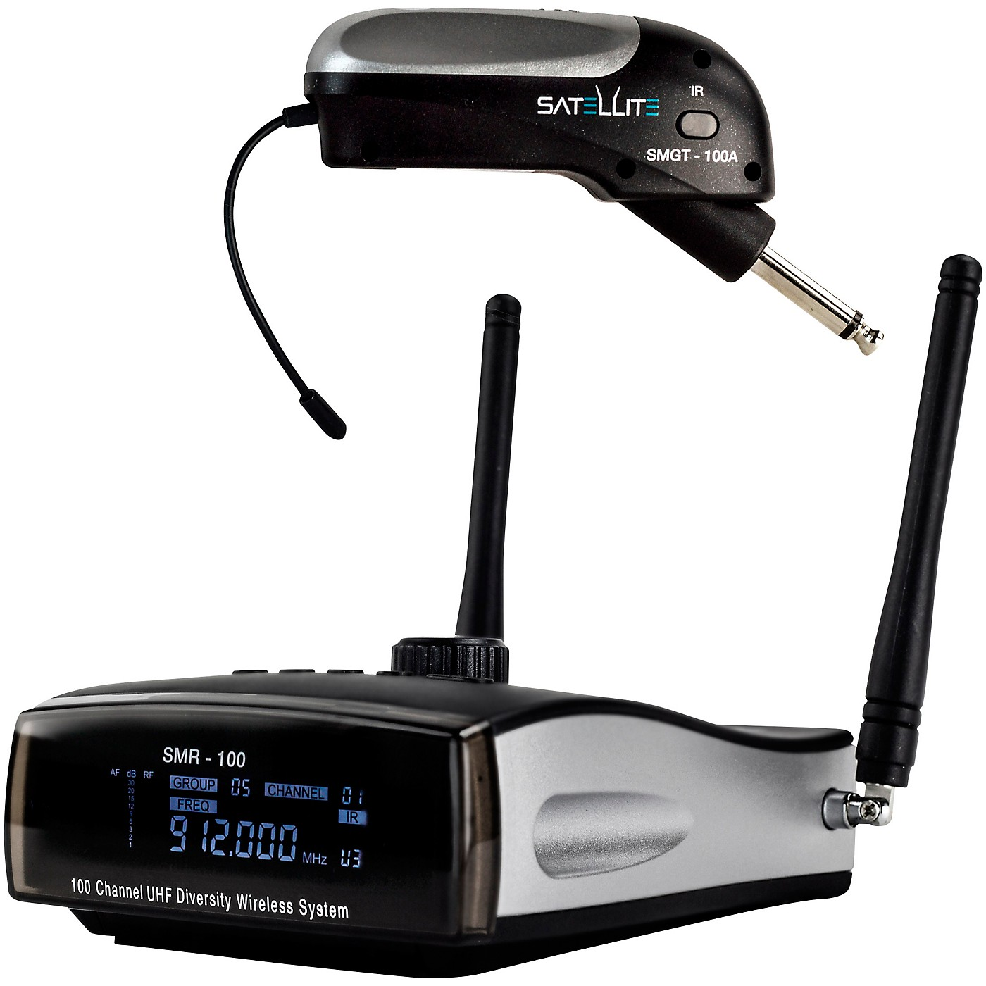 Nady Satellite SMGT-100A True Diversity Wireless Instrument System for Electric Guitar or Bass, Top Mounted thumbnail