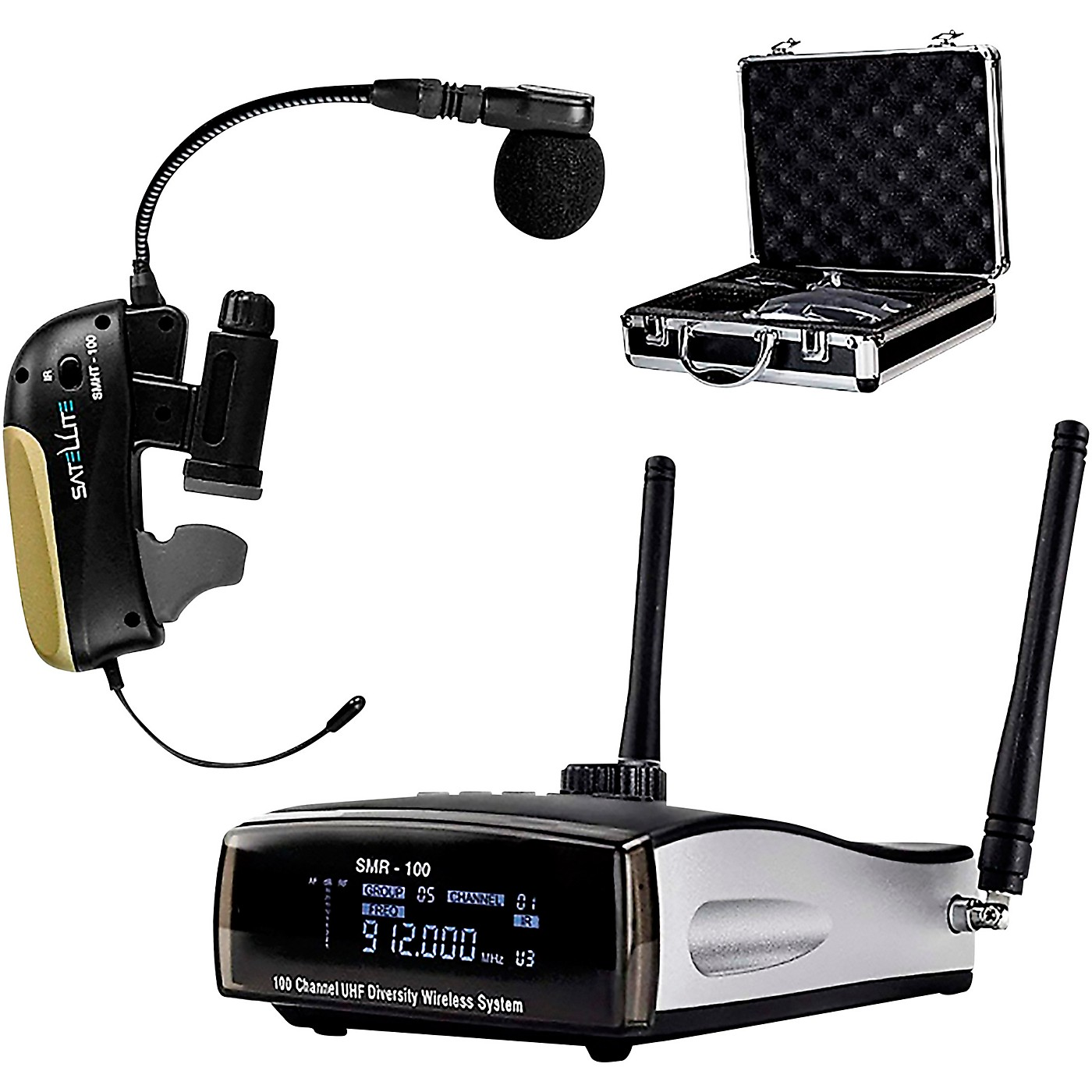 Nady Satellite SMHT-100 - 100-Channel True Diversity Wireless Instrument System for Saxophone and Horns thumbnail