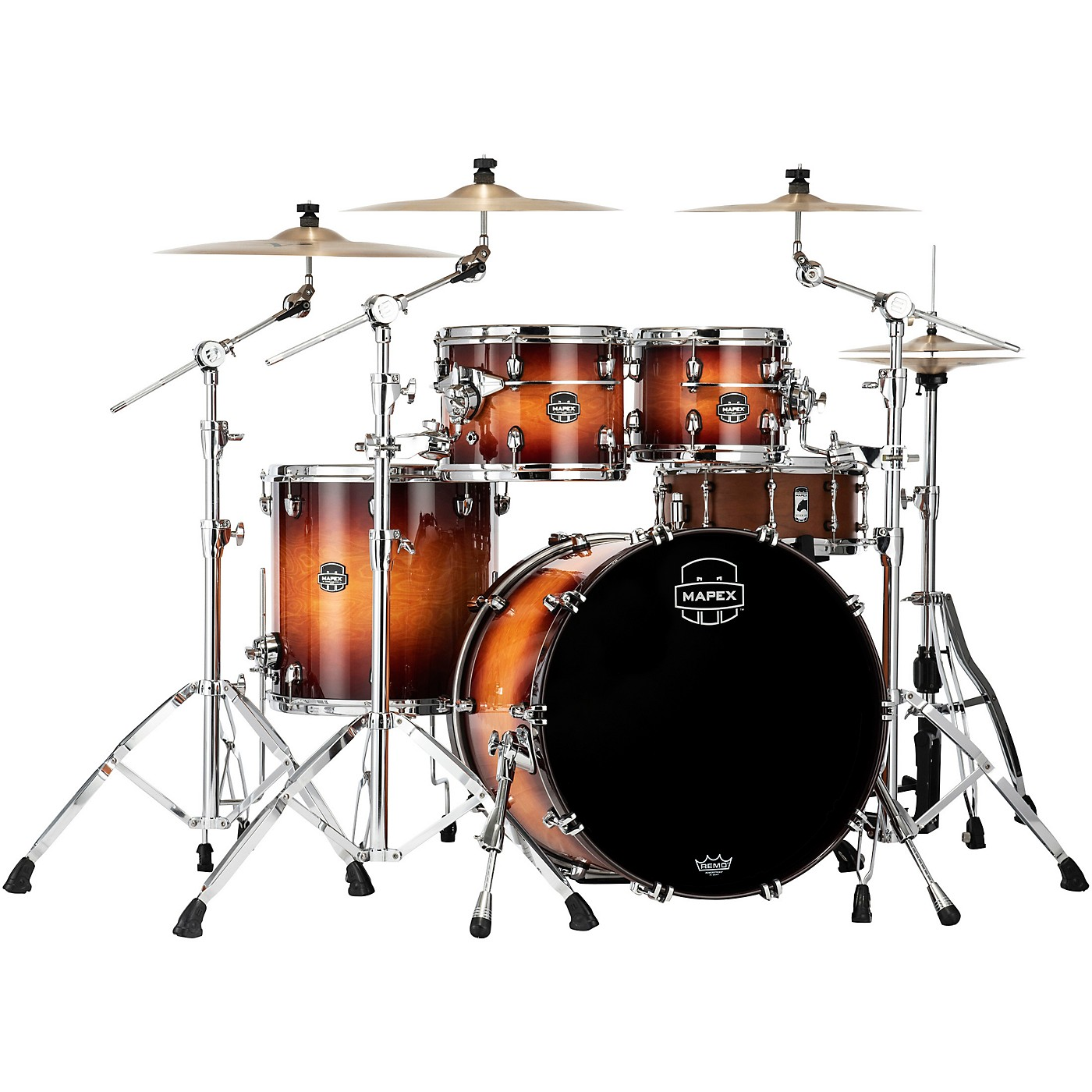 Mapex Saturn Evolution Rock Birch 4-Piece Shell Pack with 22 in. Bass Drum thumbnail