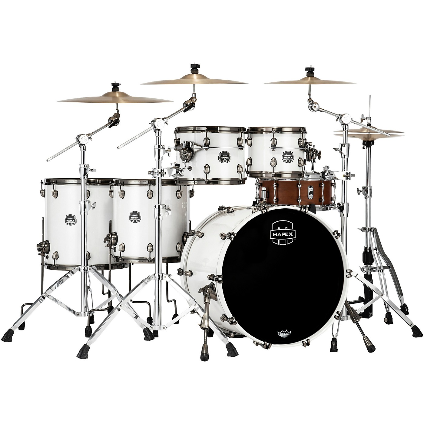 Mapex Saturn Evolution Workhorse Birch 5-Piece Shell Pack with 22 in. Bass Drum thumbnail