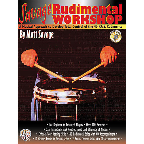 Alfred Savage Rudimental Workshop (Book/CD)-thumbnail