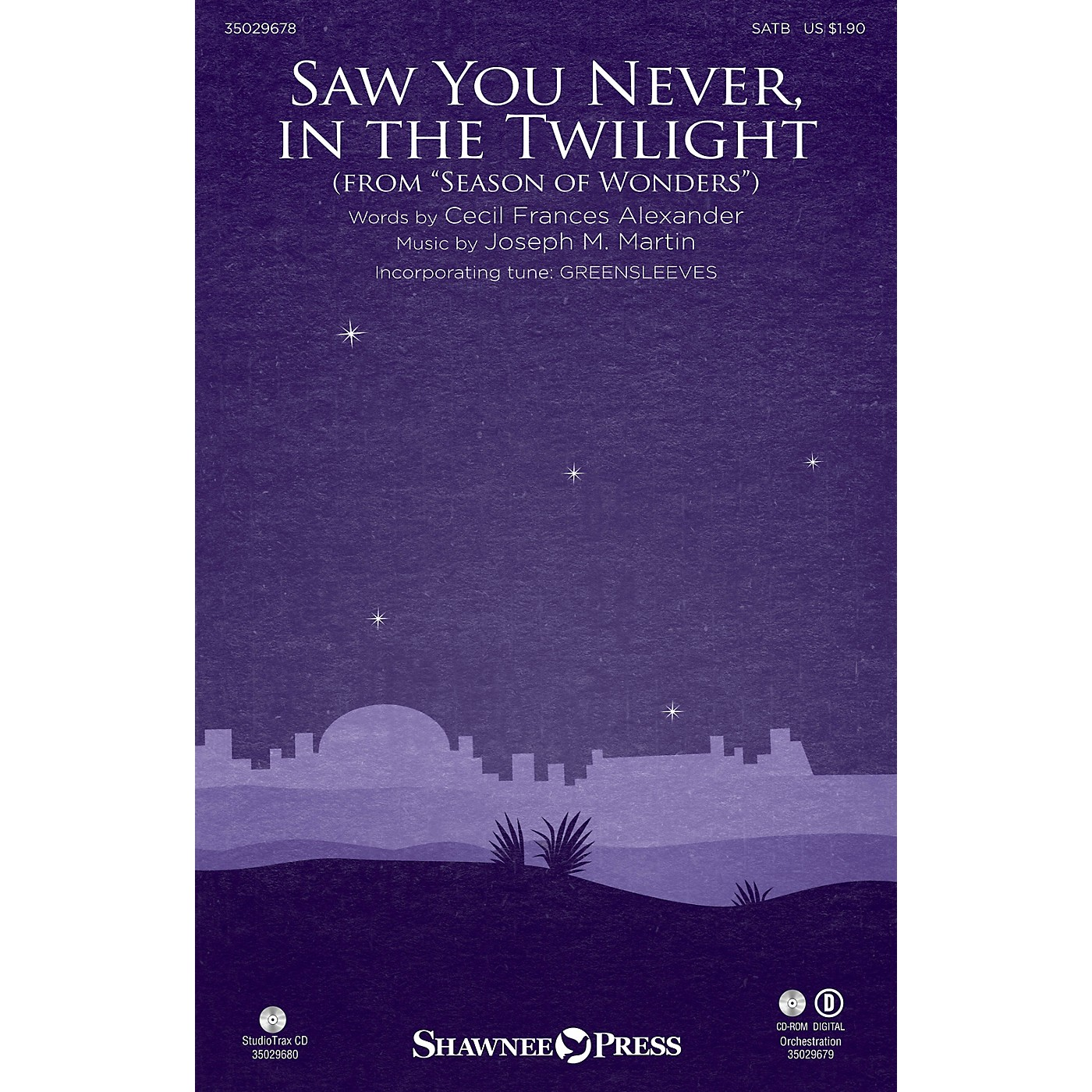 Shawnee Press Saw You Never, in the Twilight (from Season of Wonders) SATB composed by Joseph M. Martin thumbnail