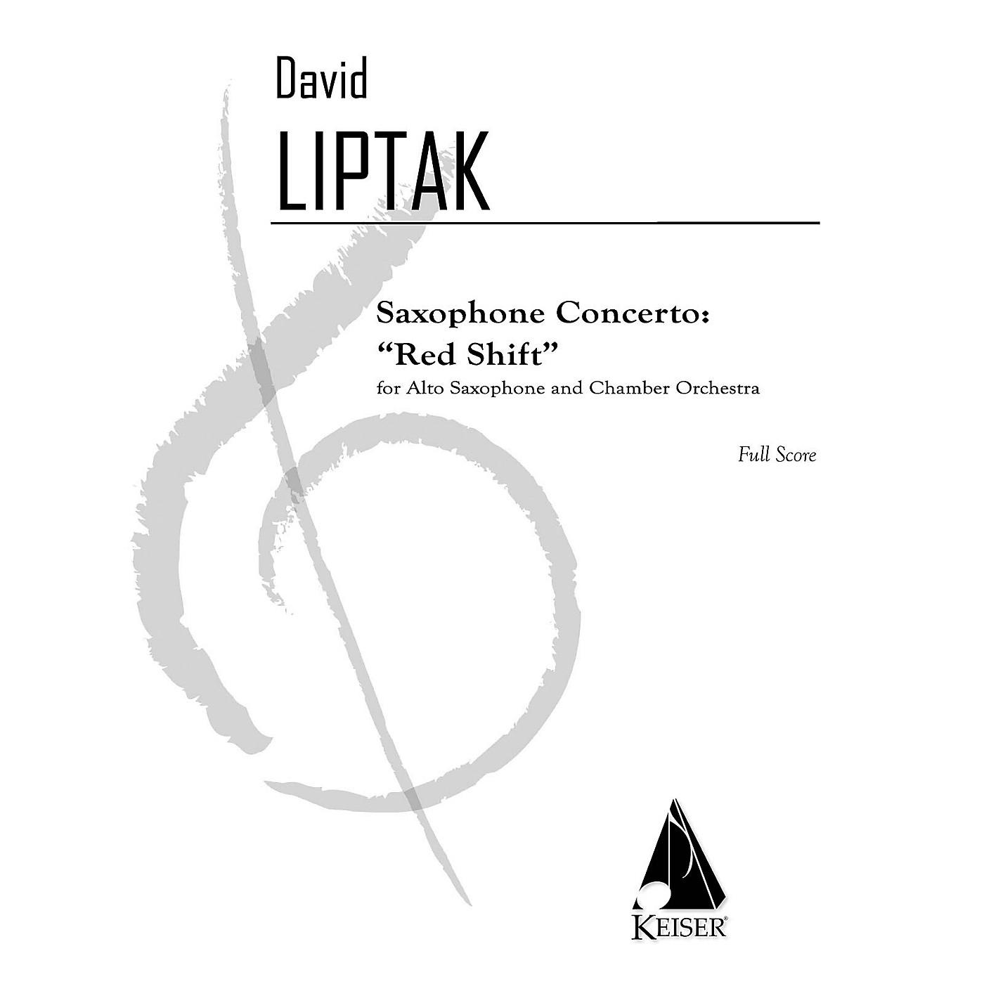 Lauren Keiser Music Publishing Saxophone Concerto: Red Shift LKM Music Series  by David Liptak thumbnail