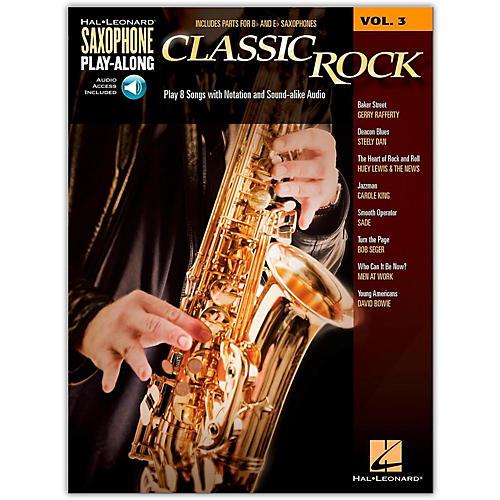Hal Leonard Saxophone Play-Along Vol. 3 - Classic Rock (Book/Online Audio) thumbnail