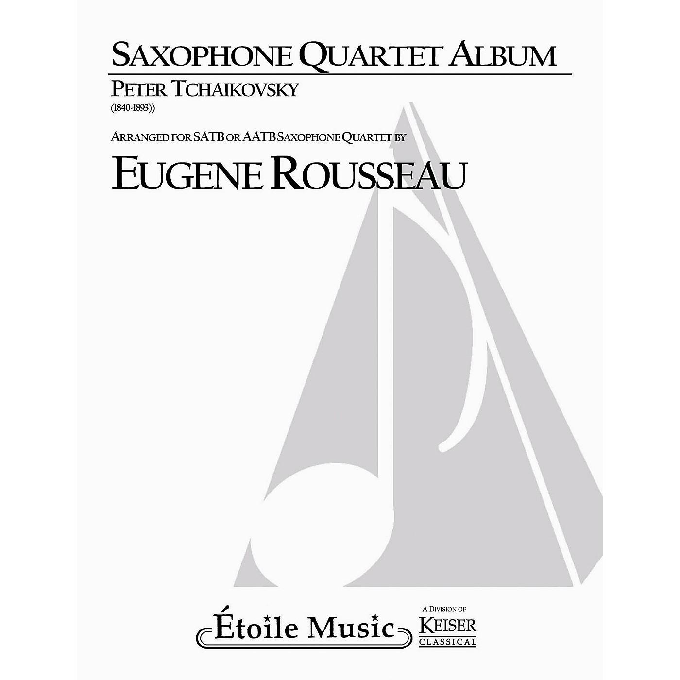 Lauren Keiser Music Publishing Saxophone Quartet Album LKM Music  by Pyotr Il'yich Tchaikovsky Arranged by Eugene Rousseau thumbnail