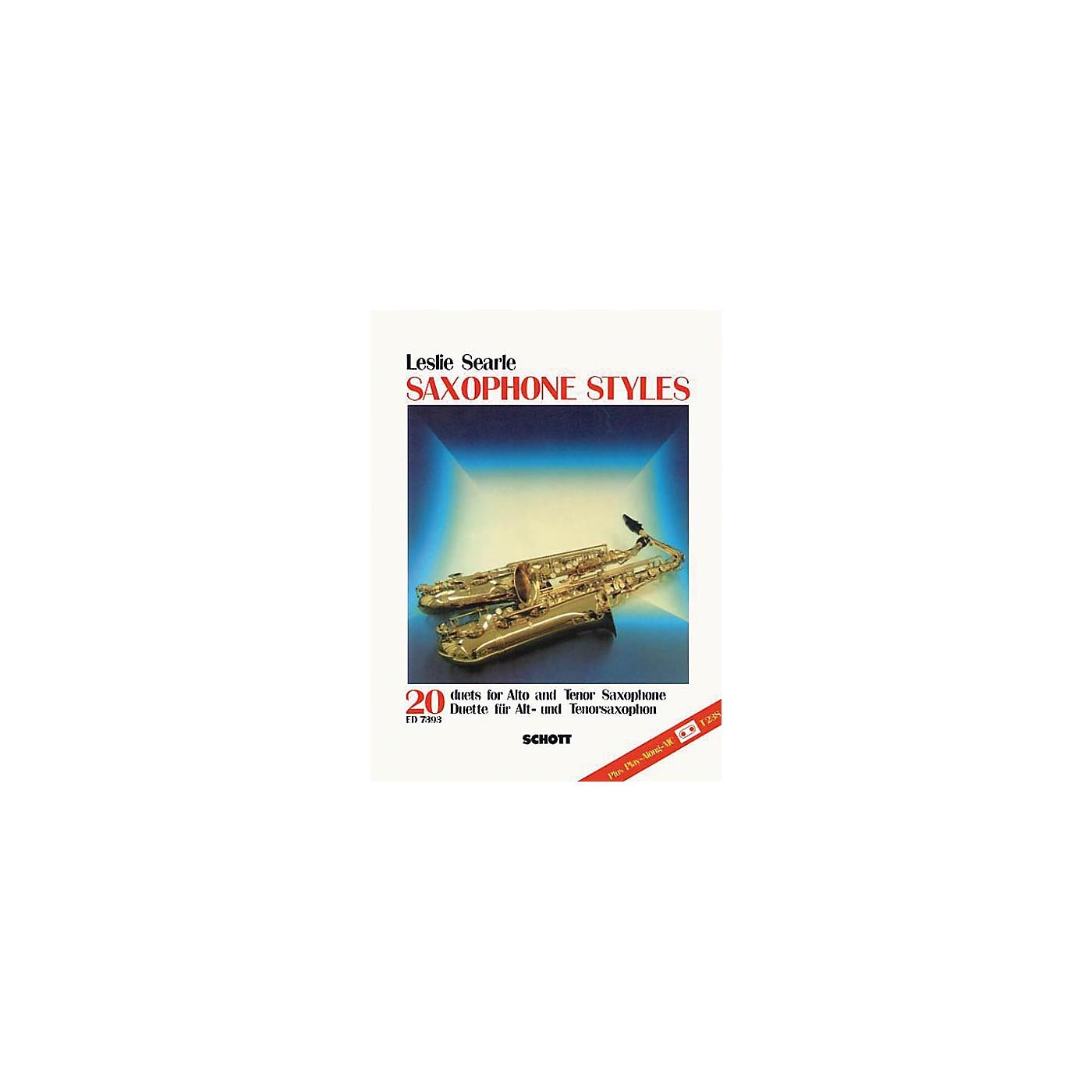 Schott Saxophone Styles - 20 Duets Schott Series thumbnail
