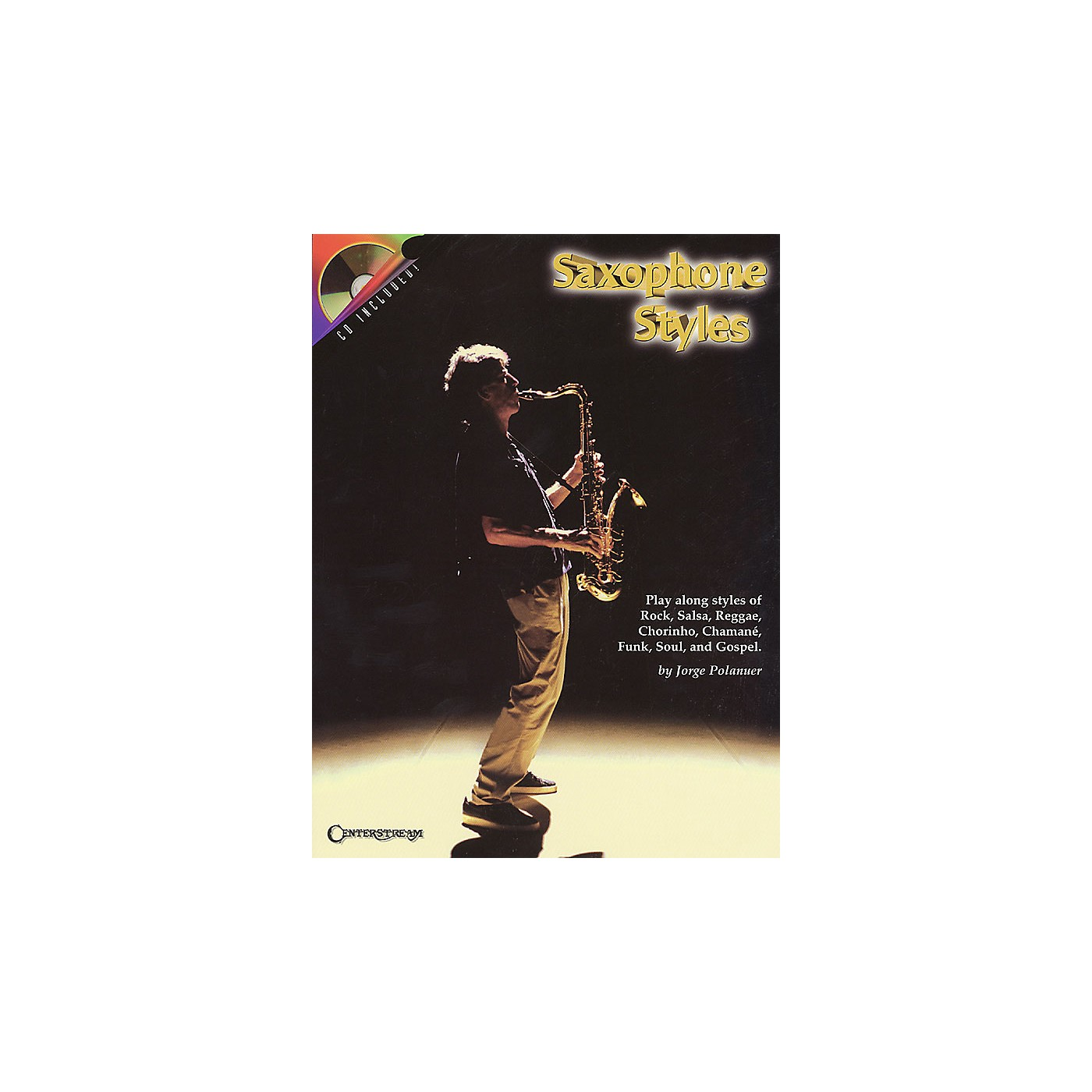 Centerstream Publishing Saxophone Styles Brass Series Book with CD Performed by Jorge Polanuer thumbnail
