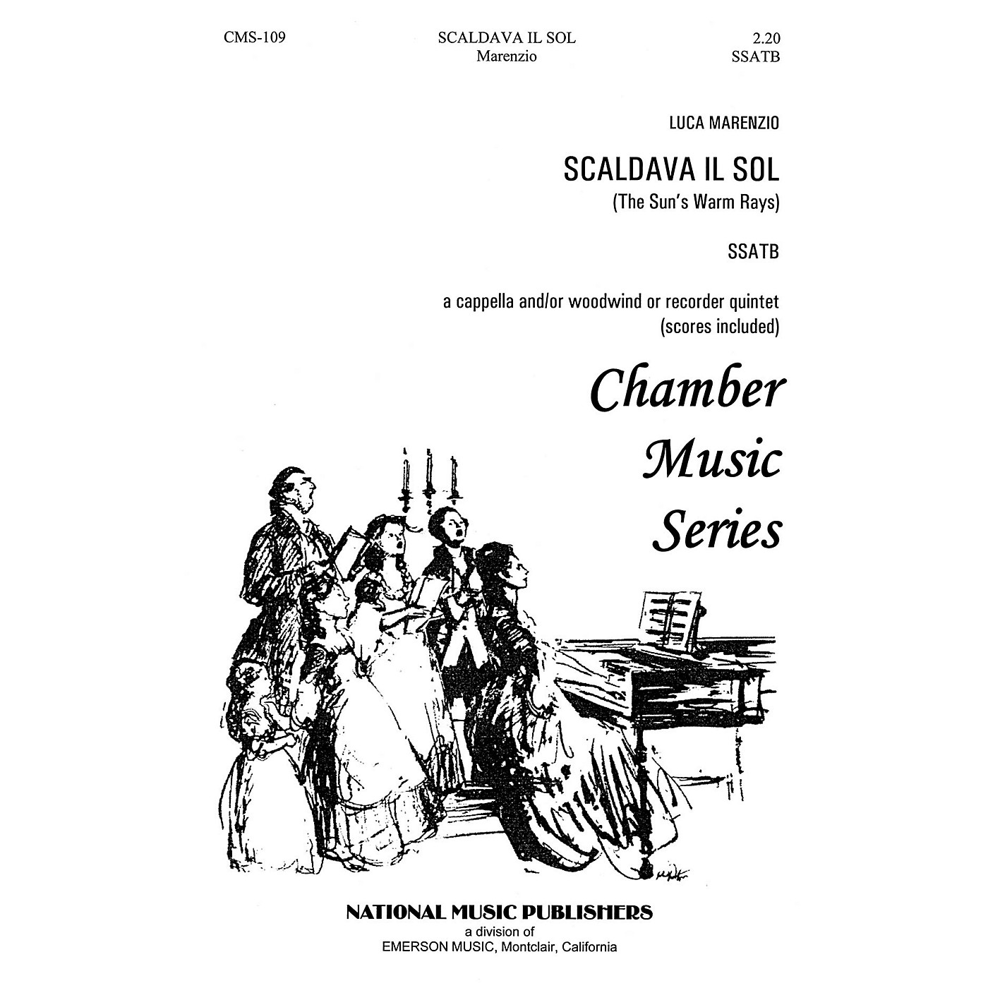Hal Leonard Scaldava Il Sol SSATB composed by William Hall thumbnail