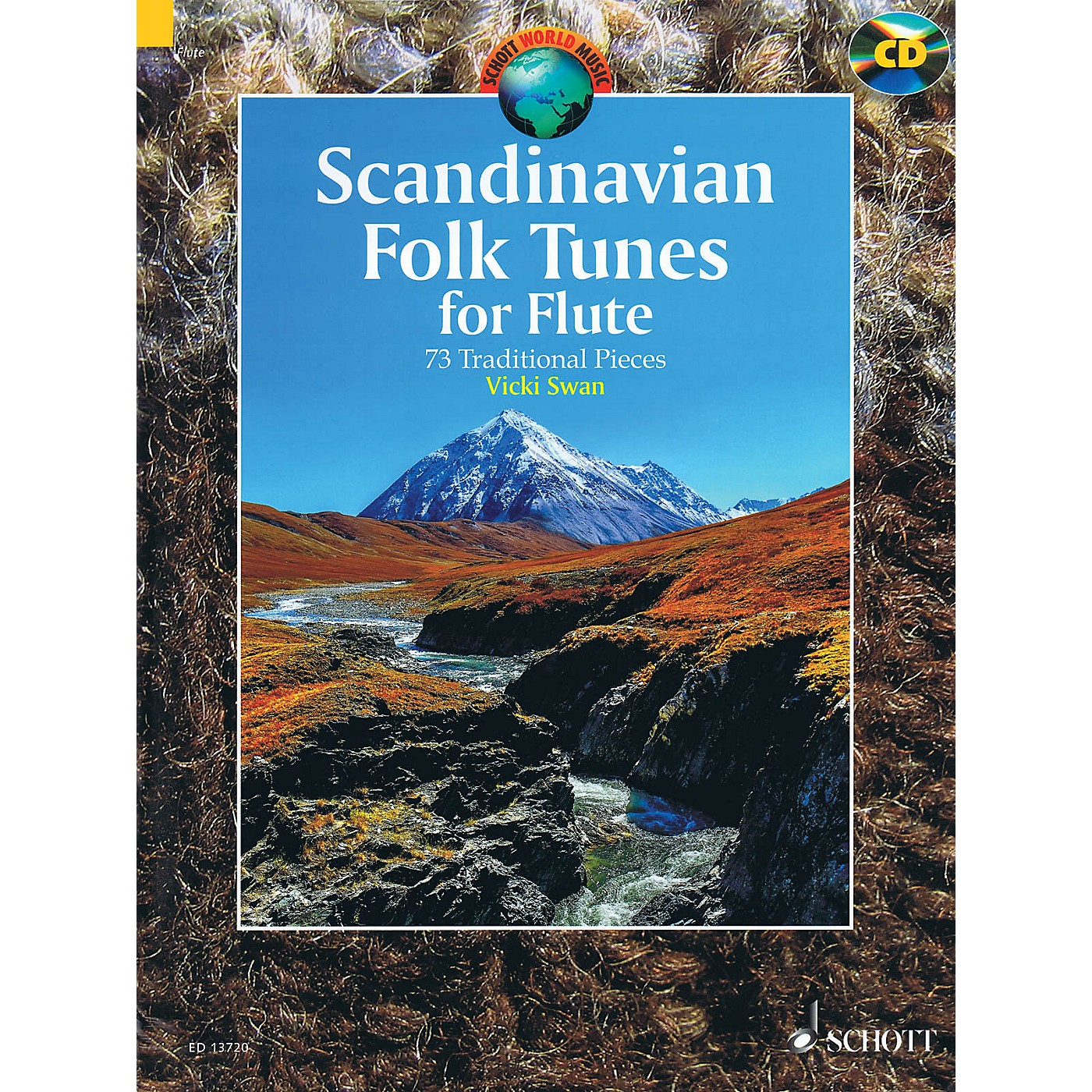 Schott Scandinavian Folk Tunes for Flute (73 Traditional Pieces) Woodwind Series Softcover with CD thumbnail