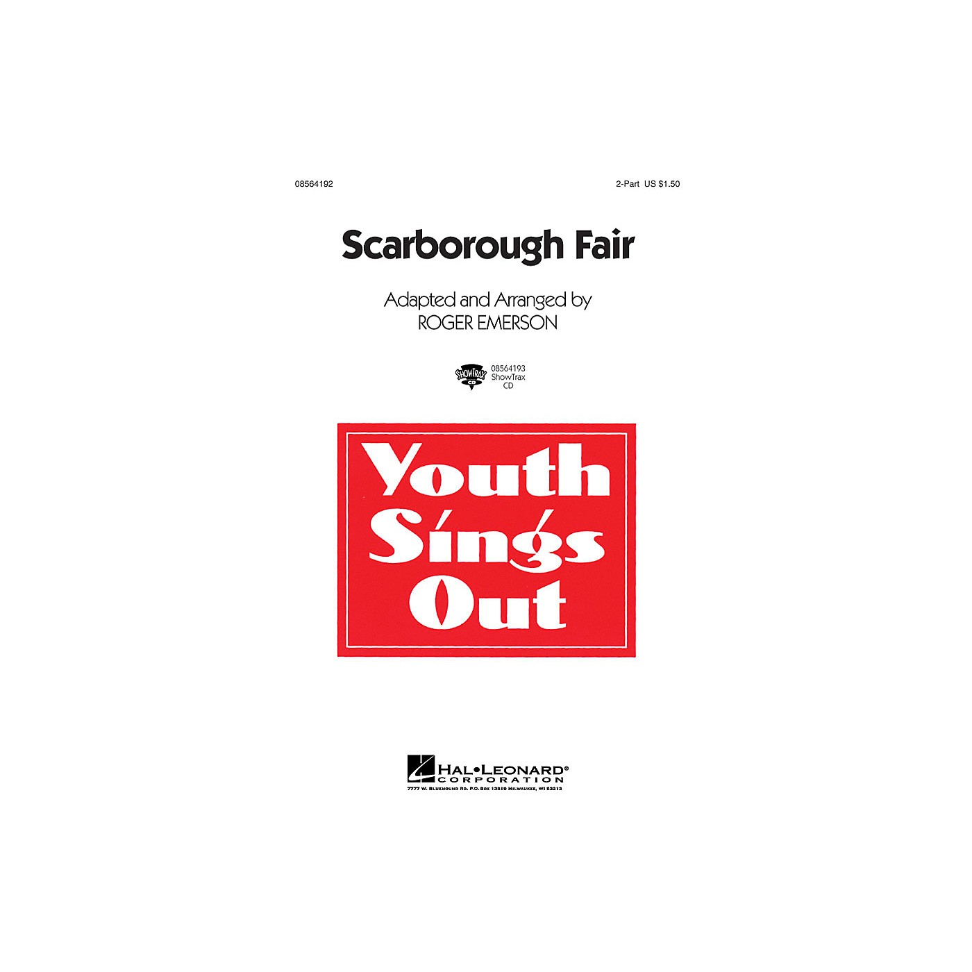 Hal Leonard Scarborough Fair 2-Part arranged by Roger Emerson thumbnail