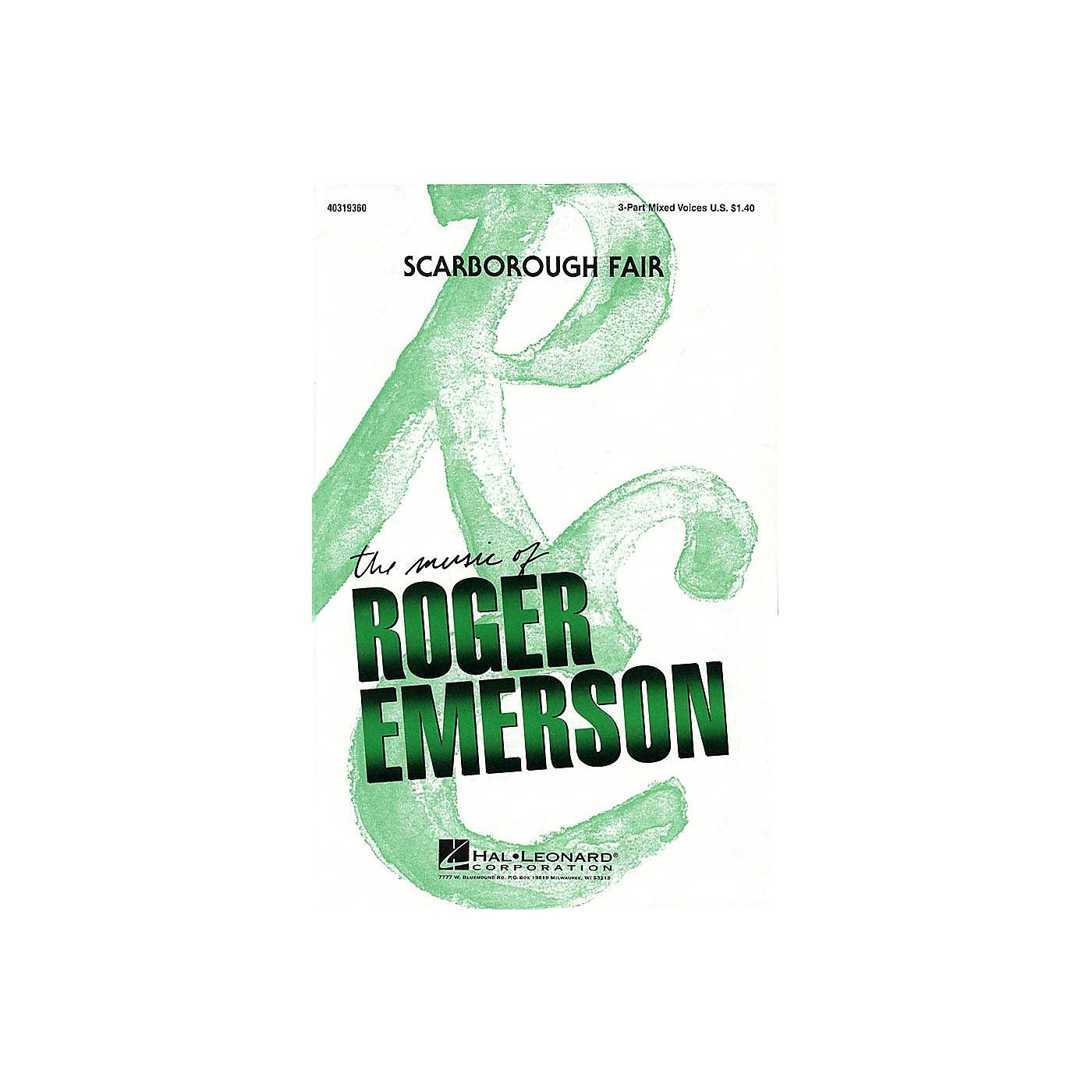 Hal Leonard Scarborough Fair 3-Part Mixed arranged by Roger Emerson thumbnail