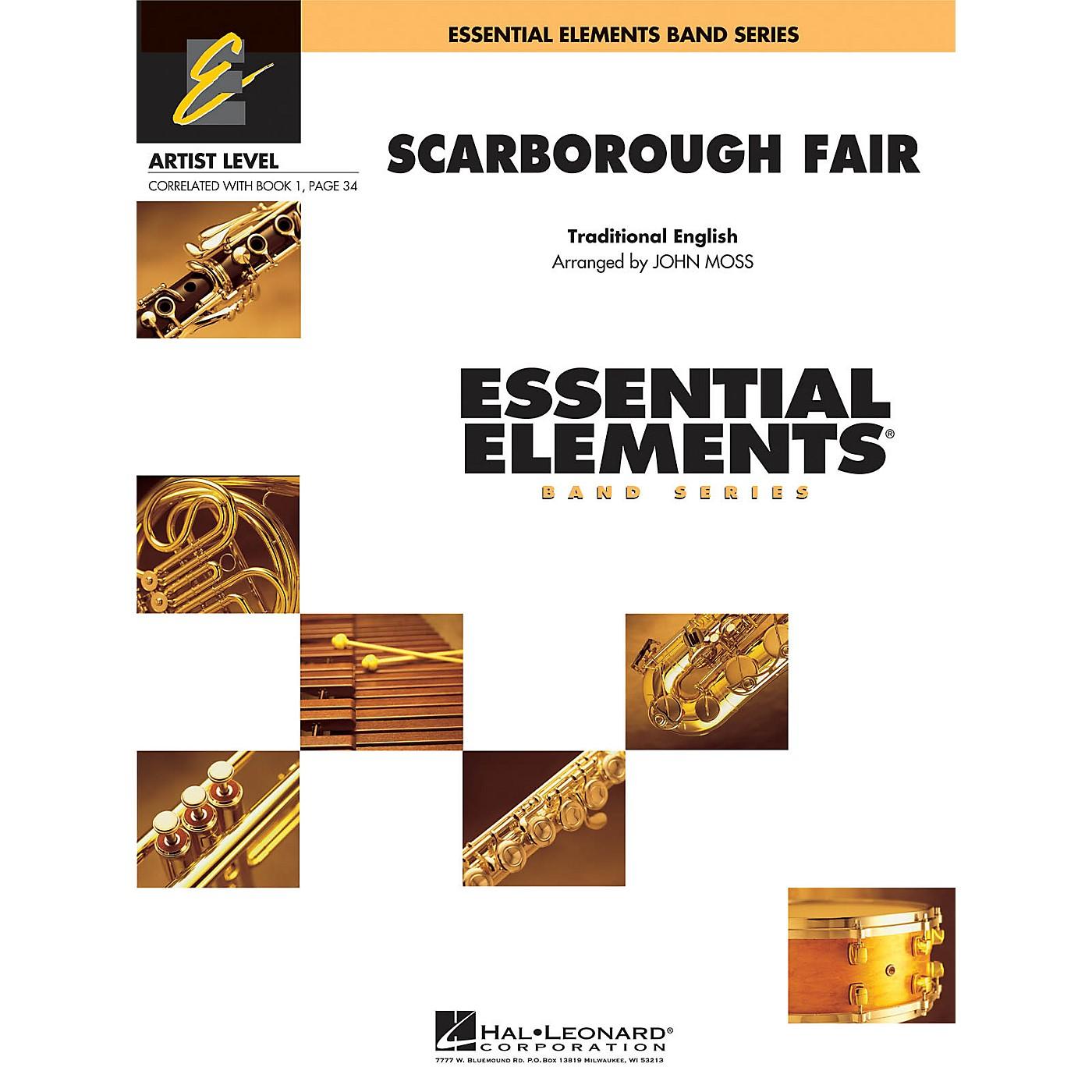 Hal Leonard Scarborough Fair Concert Band Level 1 Arranged by John Moss thumbnail