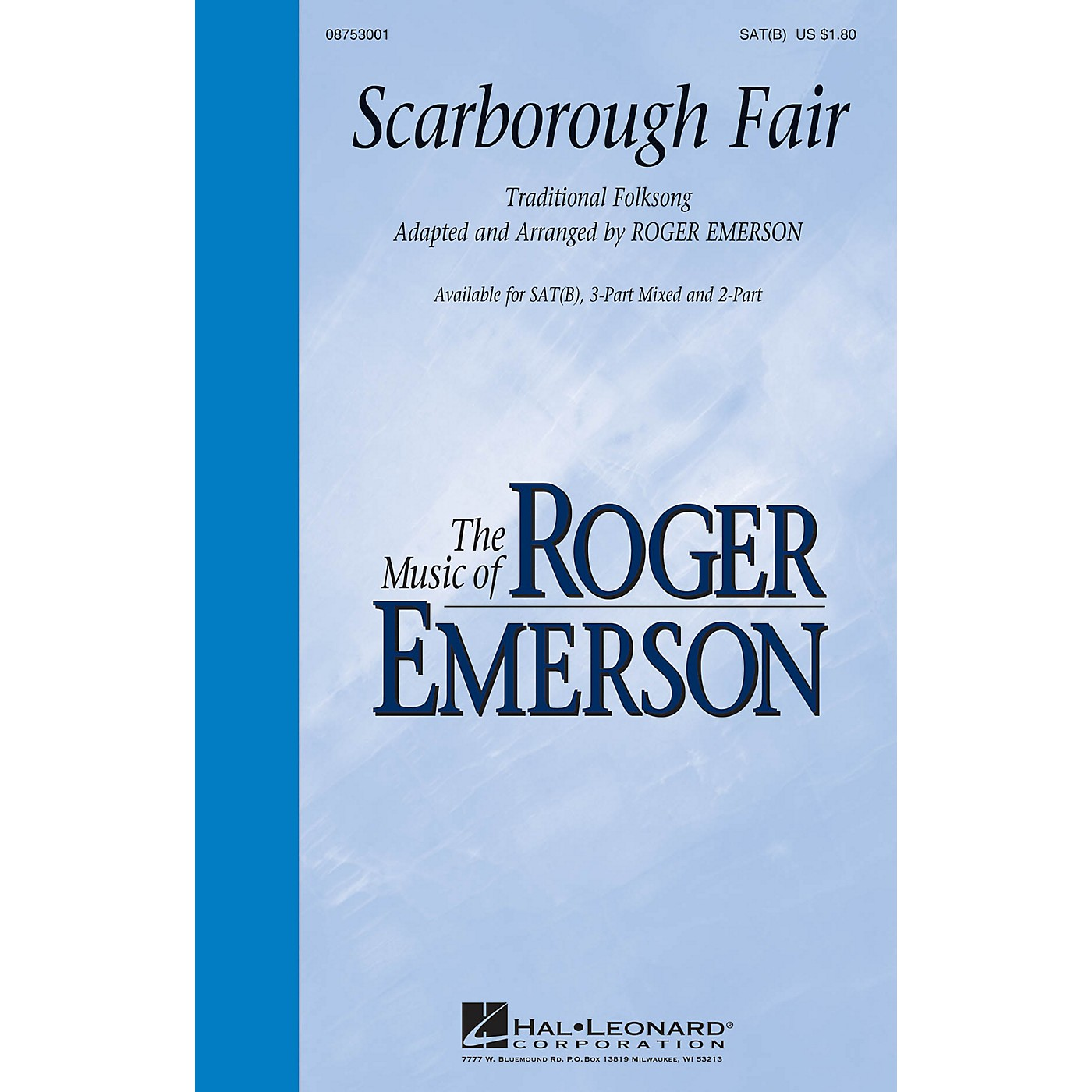 Hal Leonard Scarborough Fair SAT(B) arranged by Roger Emerson thumbnail