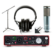 Focusrite Scarlett 2i4 Recording Package with MXL R80 and Tascam TH-200X