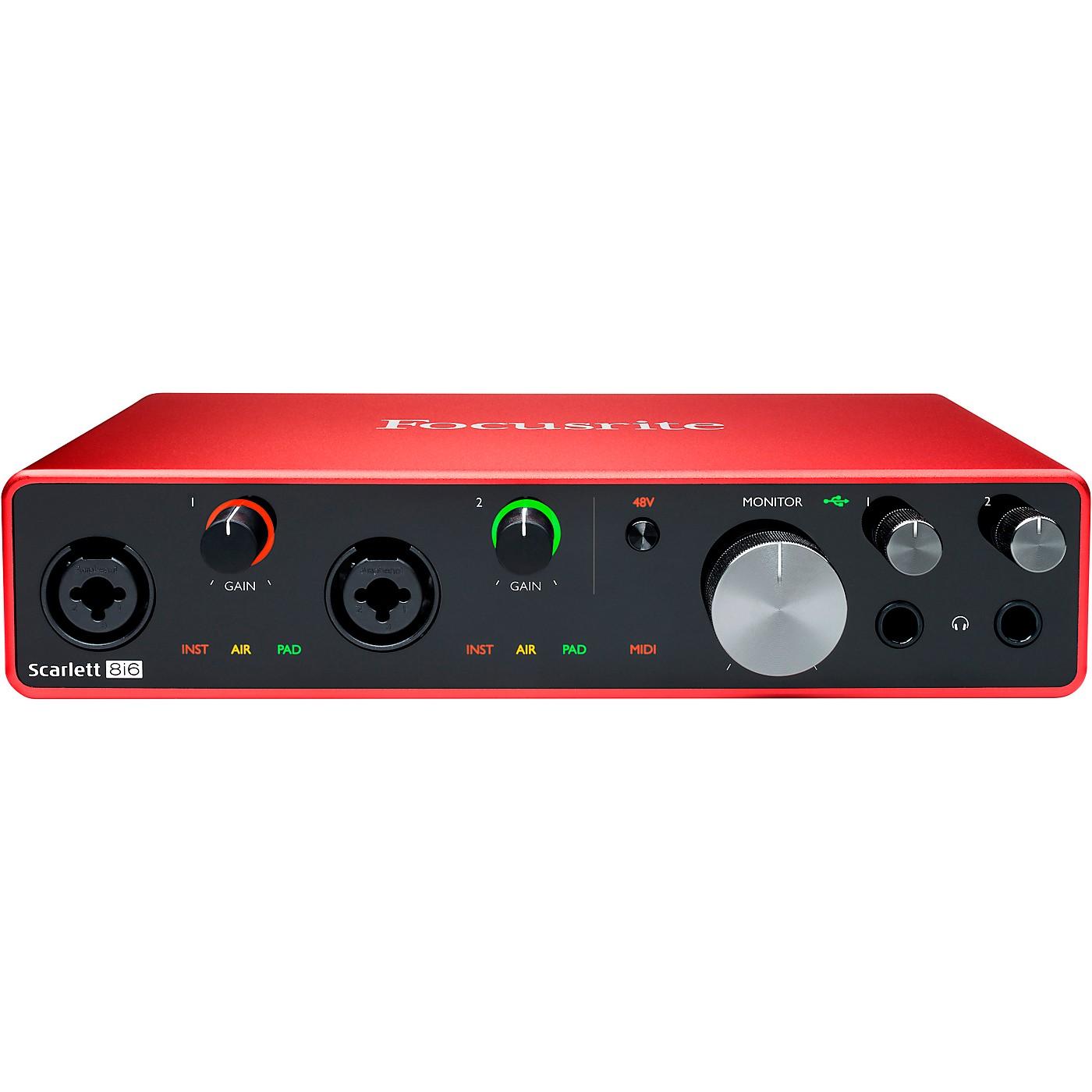 Focusrite Scarlett 8i6 USB Audio Interface (Gen 3) thumbnail