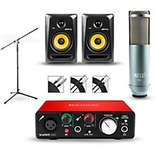 Focusrite Scarlett Solo 2nd Gen Interface with MXL R80 and Rokit RP5G3 Pair