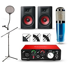 Focusrite Scarlett Solo Recording Package with MXL 4000 and M-Audio Limited Edition BX5 Pair