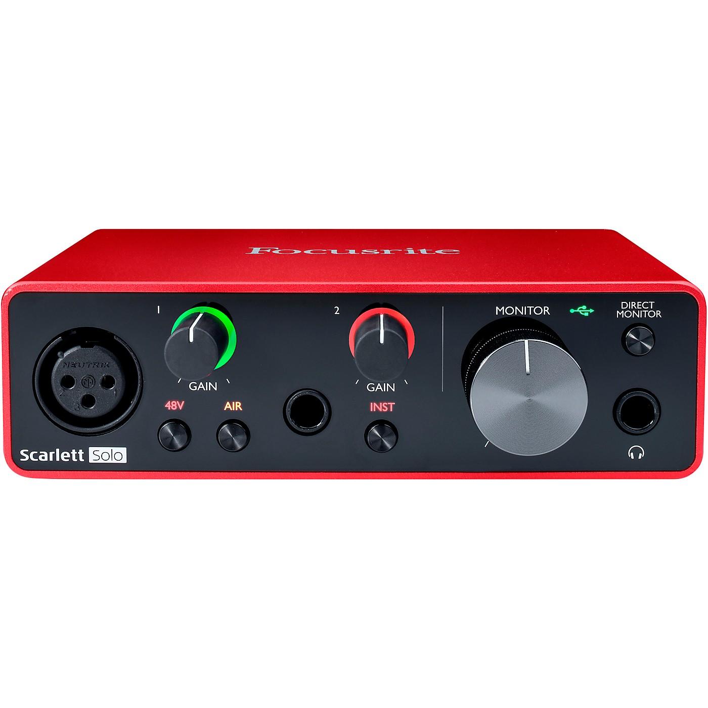 Focusrite Scarlett Solo USB Audio Interface (Gen 3) thumbnail