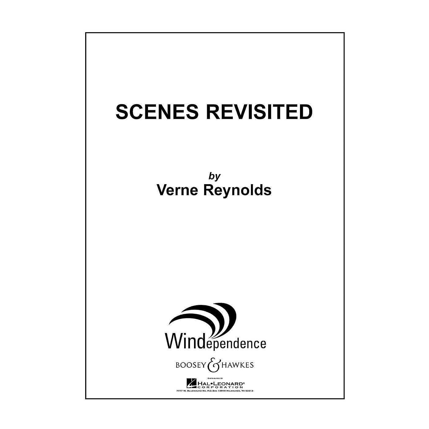 Boosey and Hawkes Scenes Revisited Concert Band Level 5 Composed by Verne Reynolds thumbnail