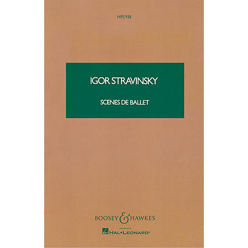 Boosey and Hawkes Scenes de Ballet (Study Score) Boosey & Hawkes Scores/Books Series Composed by Igor Stravinsky thumbnail