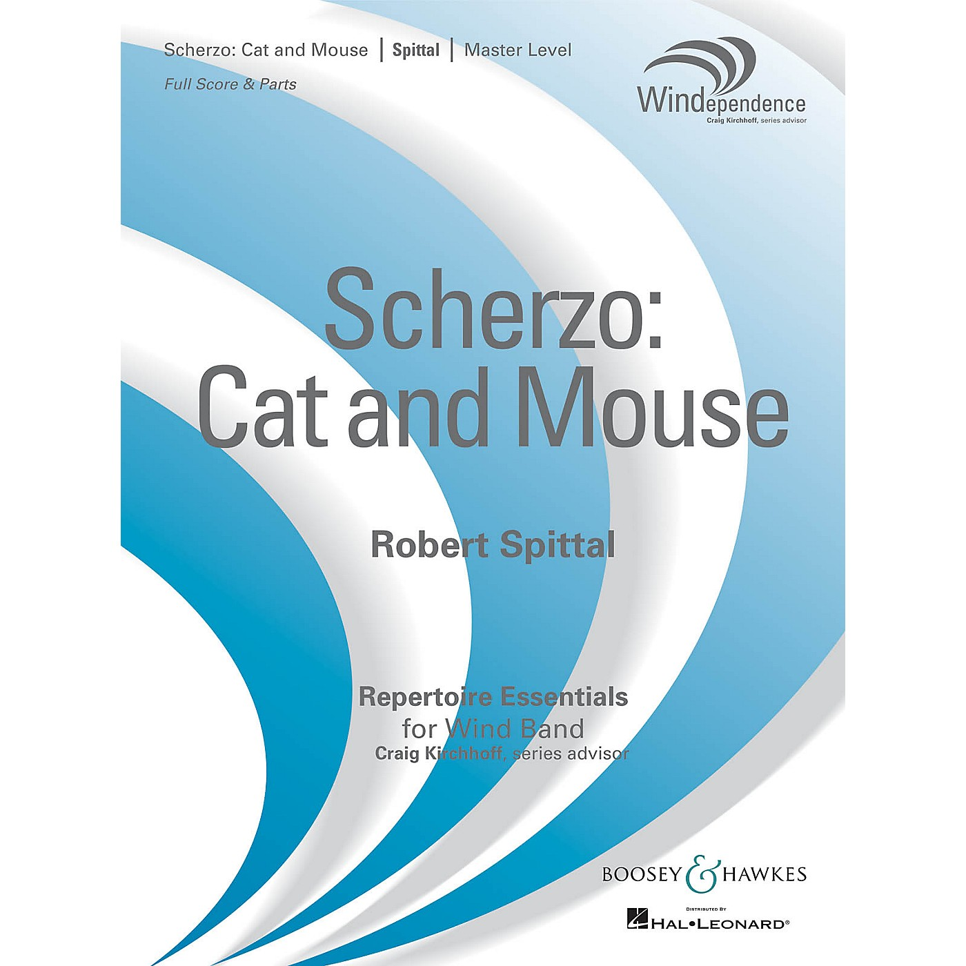 Boosey and Hawkes Scherzo: Cat and Mouse (Score Only) Concert Band Level 4 Composed by Robert Spittal thumbnail