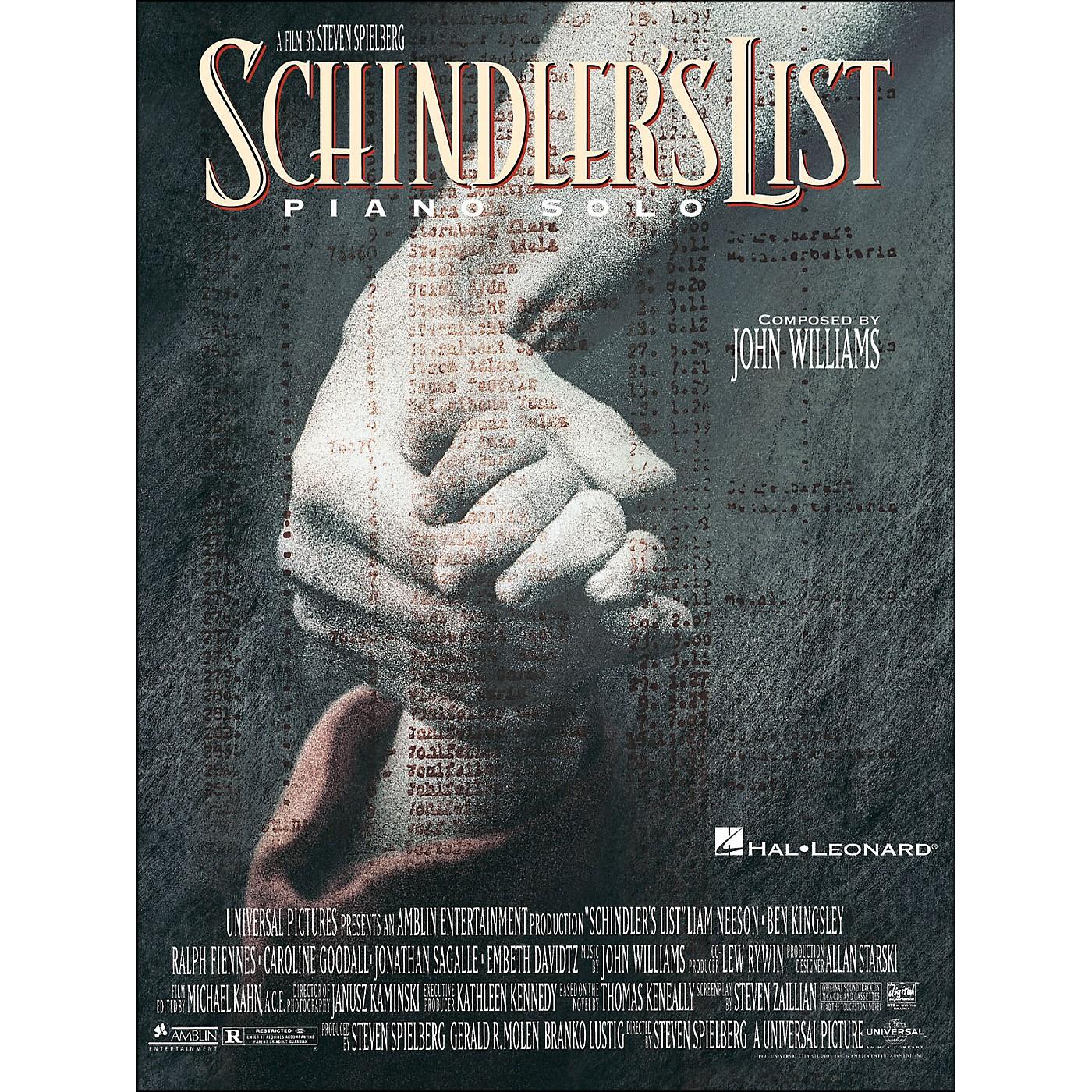 Hal Leonard Schindler's List Piano Solos thumbnail