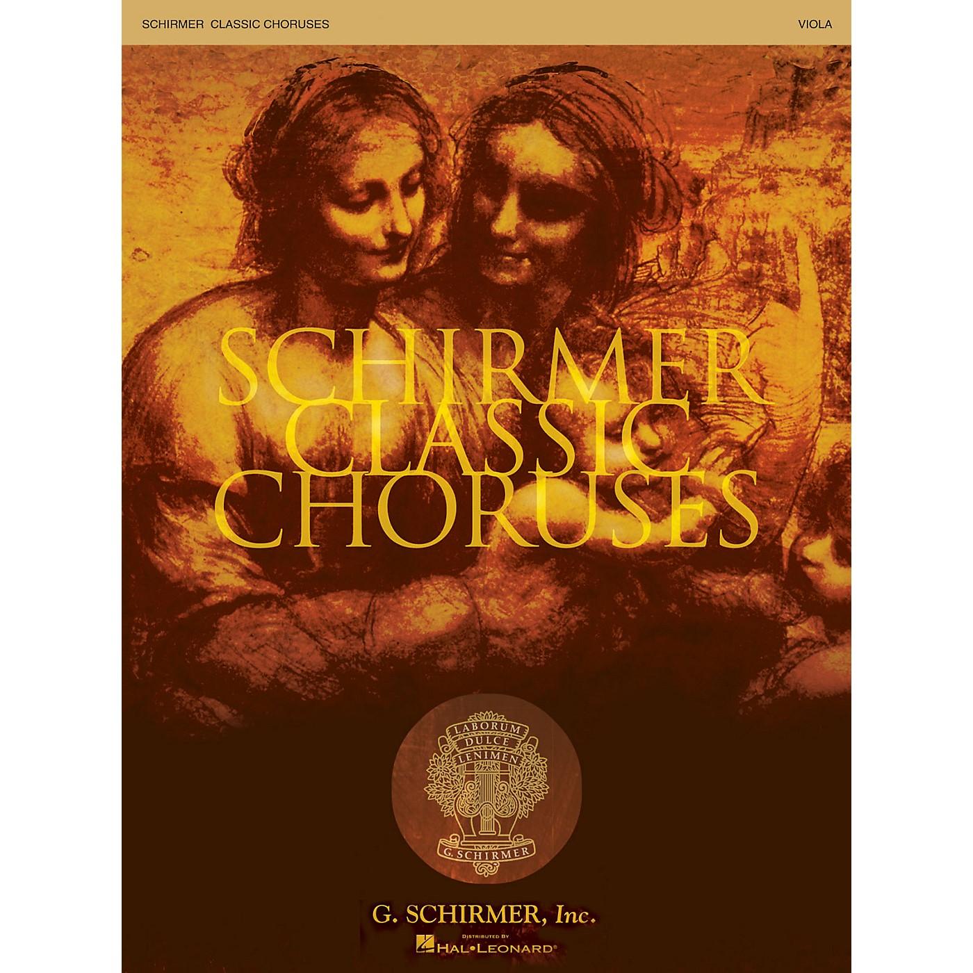 G. Schirmer Schirmer Classic Choruses (Viola) arranged by Stan Pethel thumbnail