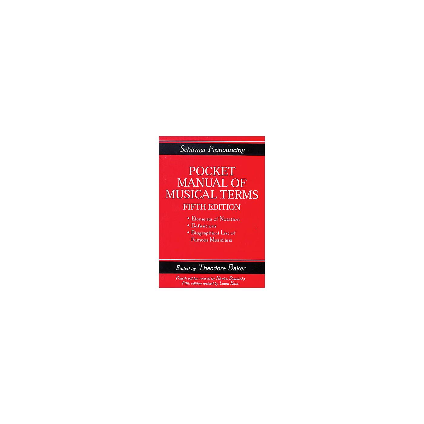 Hal Leonard Schirmer Pocket Manual (13 book prepack) Omnibus Press Series thumbnail