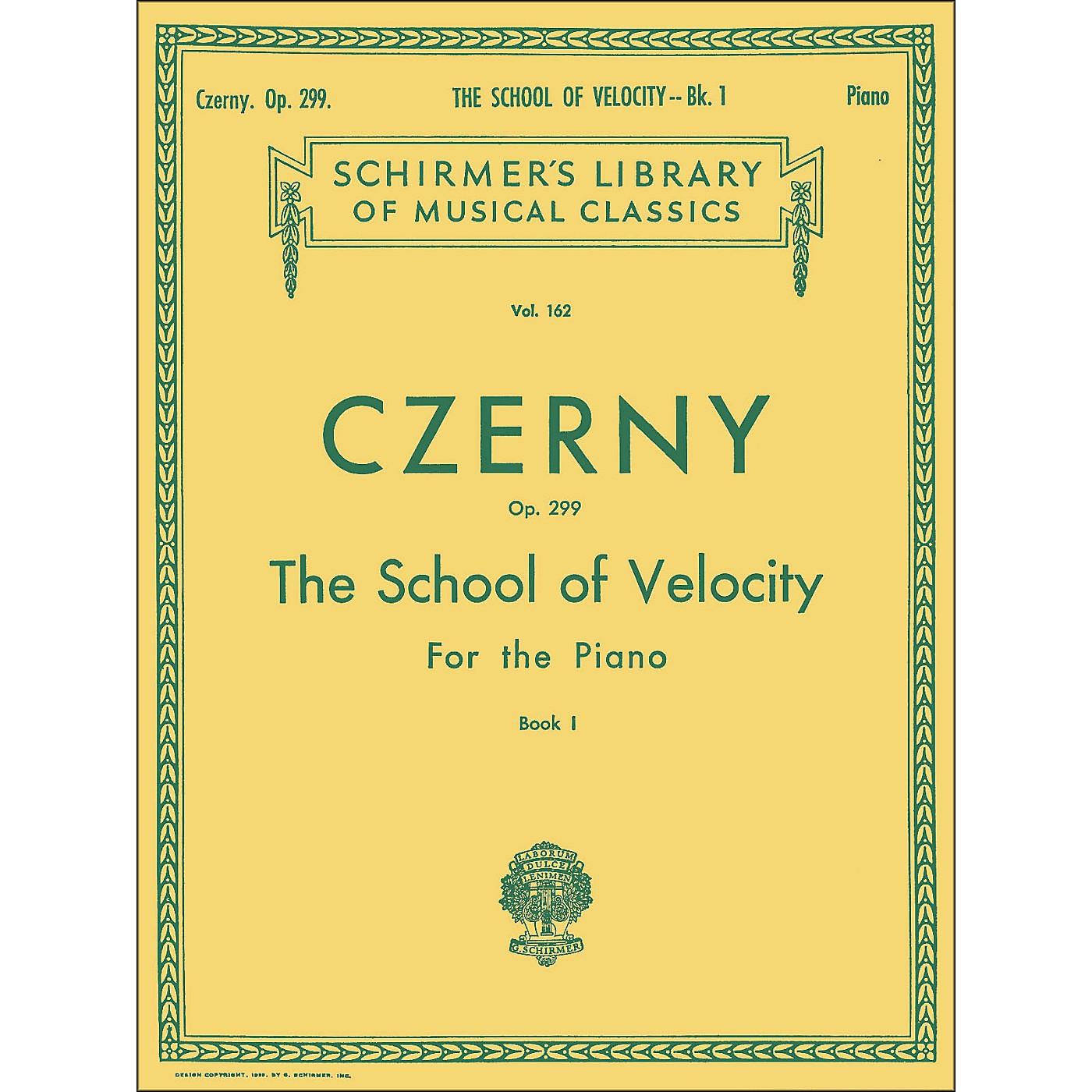 G. Schirmer School Of Velocity Op 299 Book 1 Piano By Czerny thumbnail