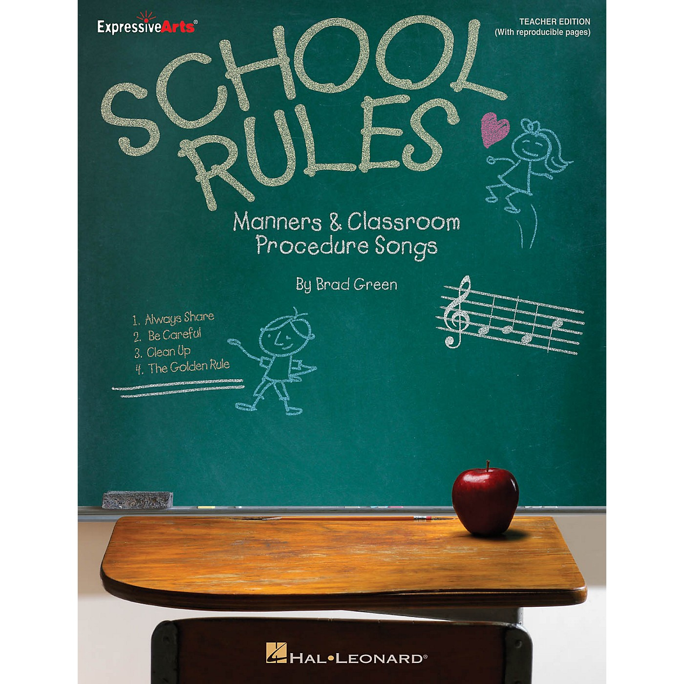 Hal Leonard School Rules (Manners and Classroom Procedure Songs) CLASSRM KIT Composed by Brad Green thumbnail